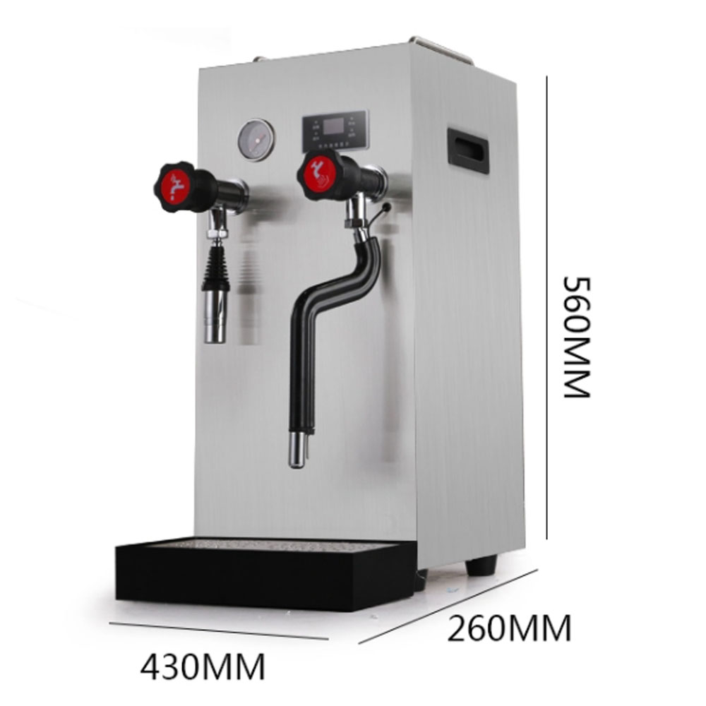 Commercial steam boiling water machine size