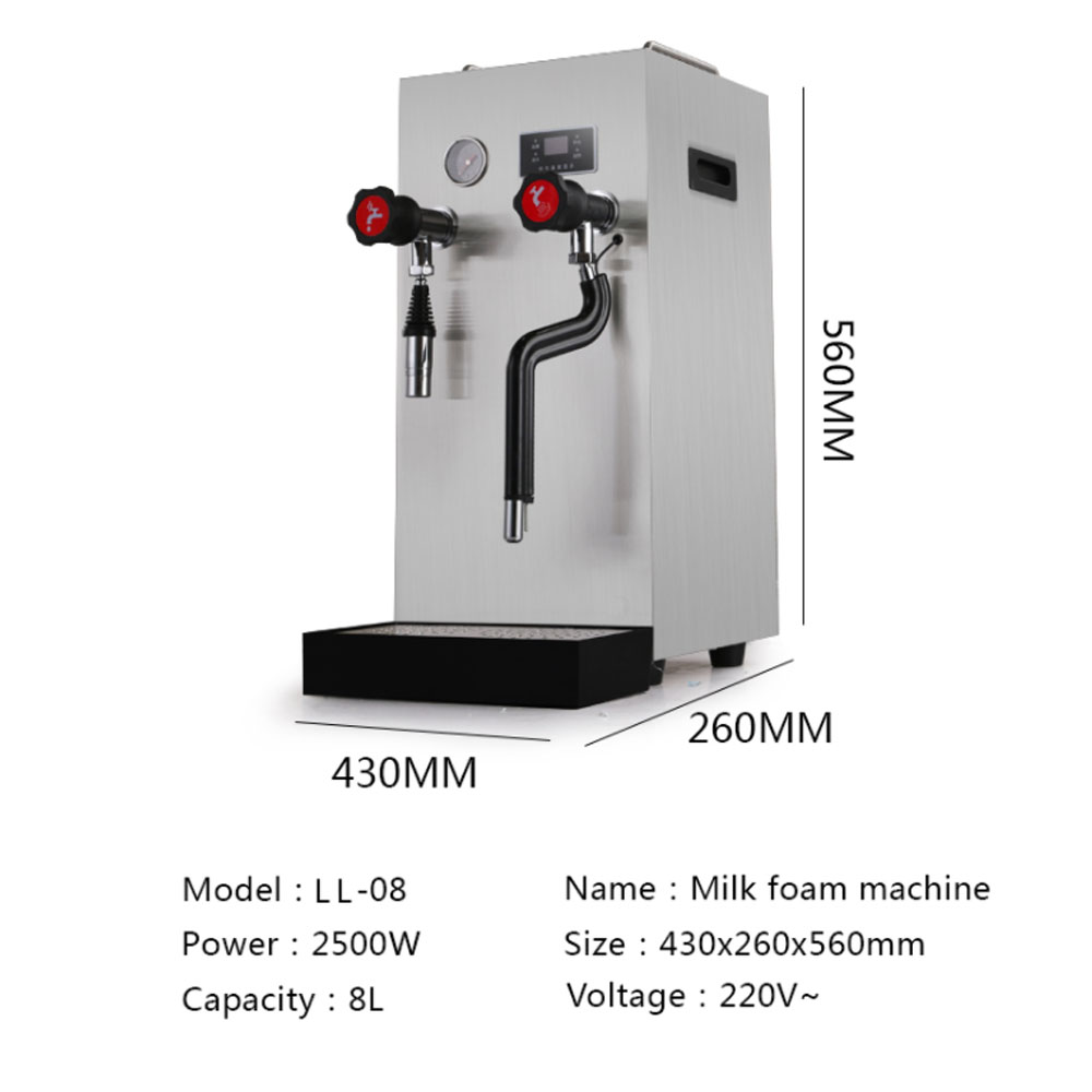 Commercial steam boiling water machine
